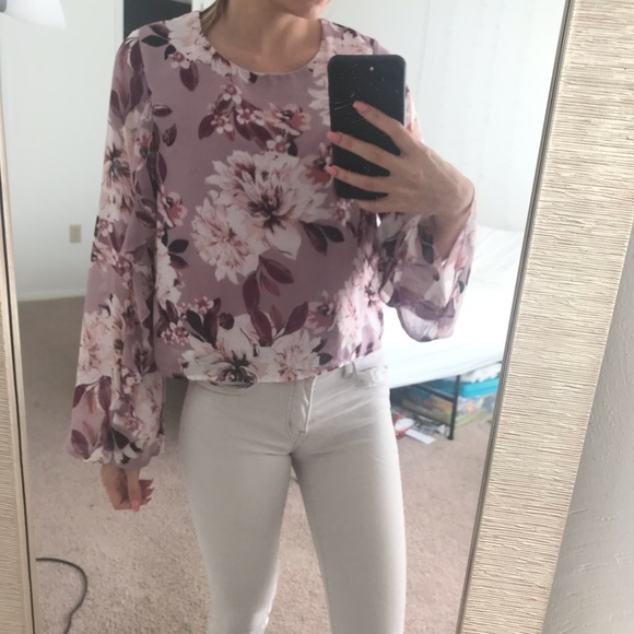 Charlotte Russe Tops - Charlotte Russe Floral Blouse